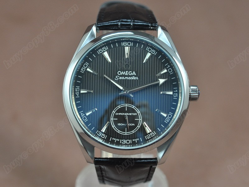 歐米茄Omega Seamaster Aqua Terra Co-Axial Man SS Black dial Manual手上鍊