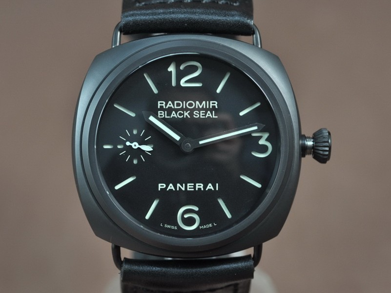 沛納海Panerai Radiomir Black Sea Ceramic 亞洲6497 Manual 手上鏈搭載