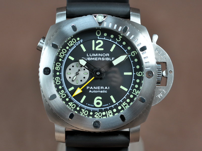 沛納海Panerai Submersible GMT 47mm SS/LE  自動機芯搭載