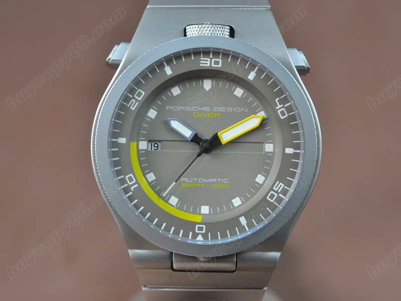 保時捷設計Porsche Design Performance P6780 Diver SS/RU Grey dial A-2824-2自動機芯搭載