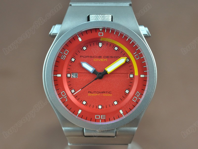 保時捷設計Porsche Design Performance P6780 Diver SS/RU Red dial A-2836-2自動機芯搭載