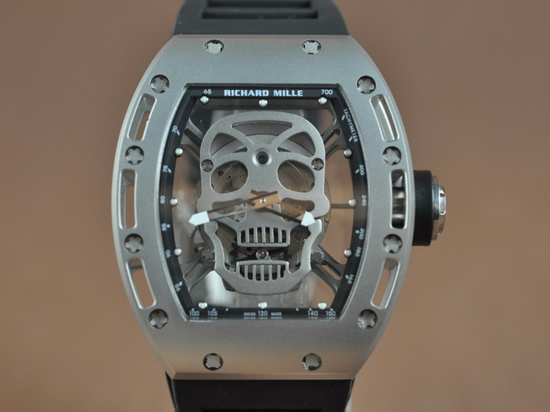 理查徳 米勒  Richard Mille RM052 Skull Watch MIYOTA 6T51 21J Auto