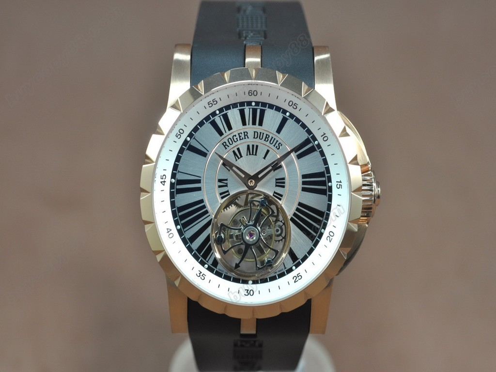 豪爵錶【男性用】 Excalibur Tourbillon RG/RU Silver dial Asian Manual 手上鏈搭載