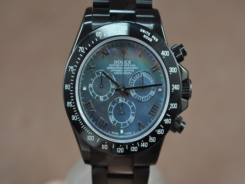 勞力士【男性用】 Daytona Full PVD Black dial Asia7750自動機芯搭載