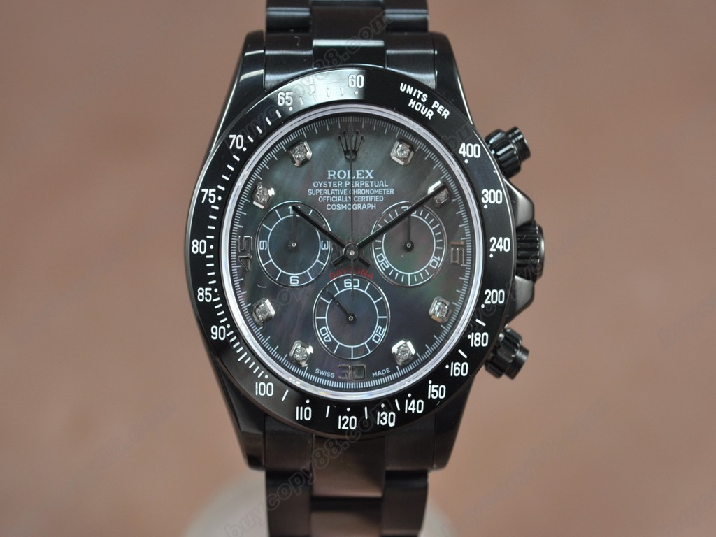 勞力士【男性用】Daytona Full PVD Black dial Asia7750自動機芯搭載