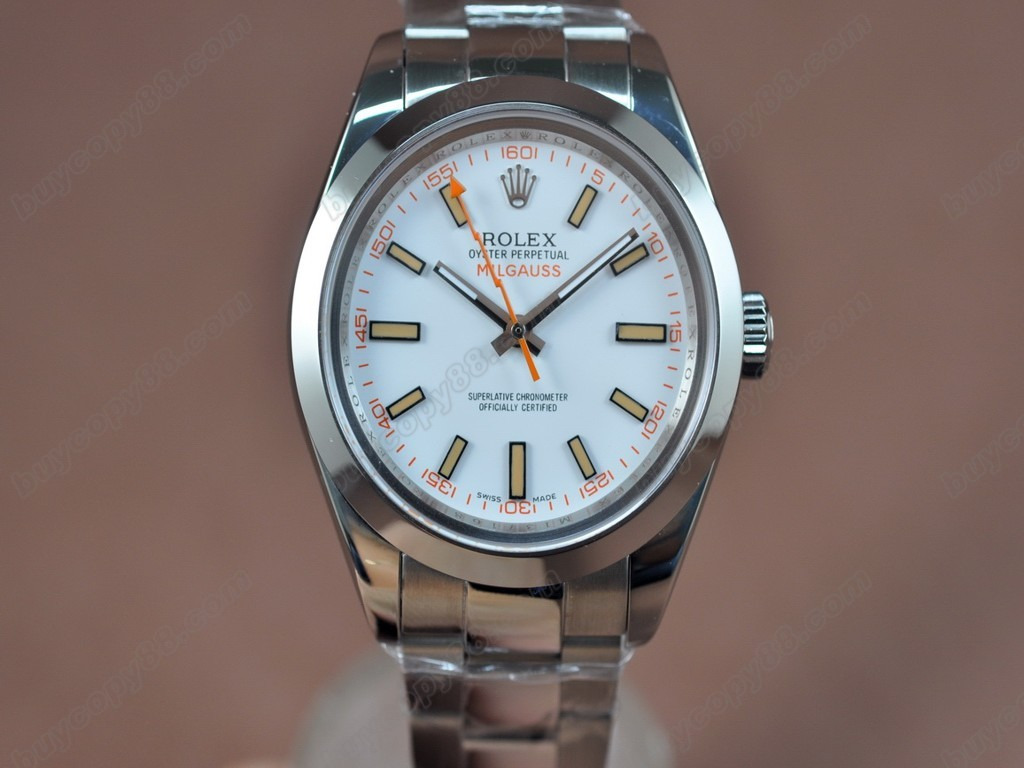 勞力士【男性用】Milguass SS/SS White Dial Asian 2836-2 自動機芯搭載