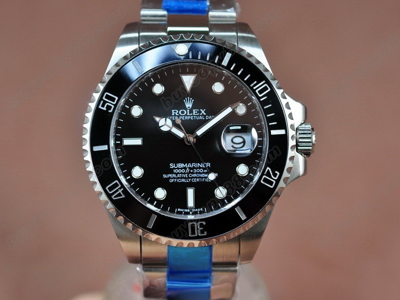 勞力士【男性用】Submariner SS Black Dial Black Ceramic Bezel A-2836-2自動機芯搭載