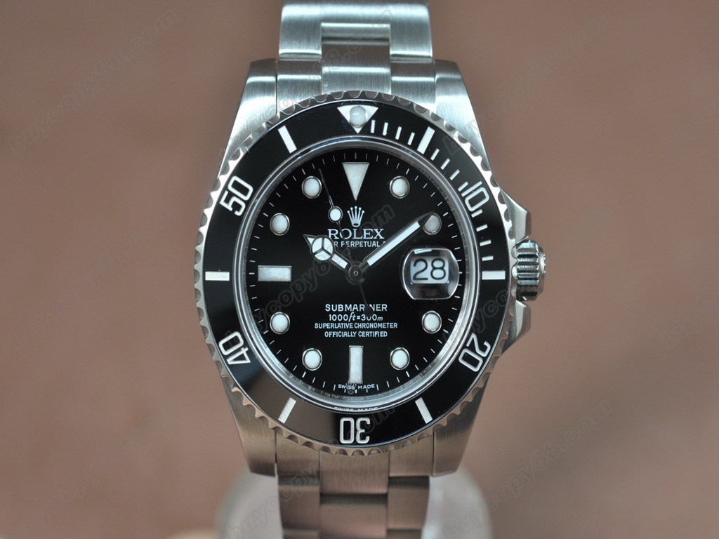 勞力士【男性用】Submariner SS Ceramic Bez Black dial Asia 3135 自動機芯搭載