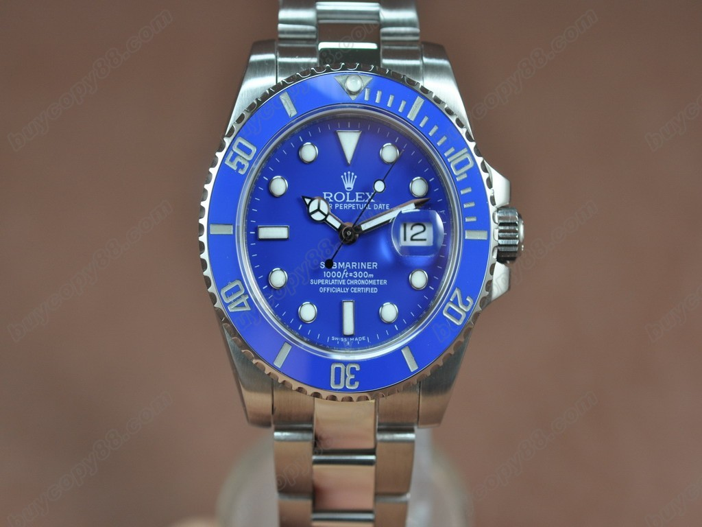 勞力士【男性用】 Submariner SS Blue Dial Blue Ceramic Bezel A-2836-2自動機芯搭載