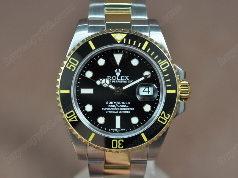 勞力士 Rolex Submariner TT Black ceramic A3135 自動機芯搭載
