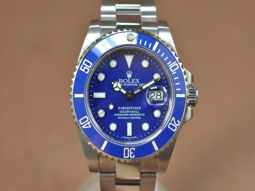 勞力士【男性用】Submariner SS Ceramic Bez Blue dial Asia 自動機芯搭載