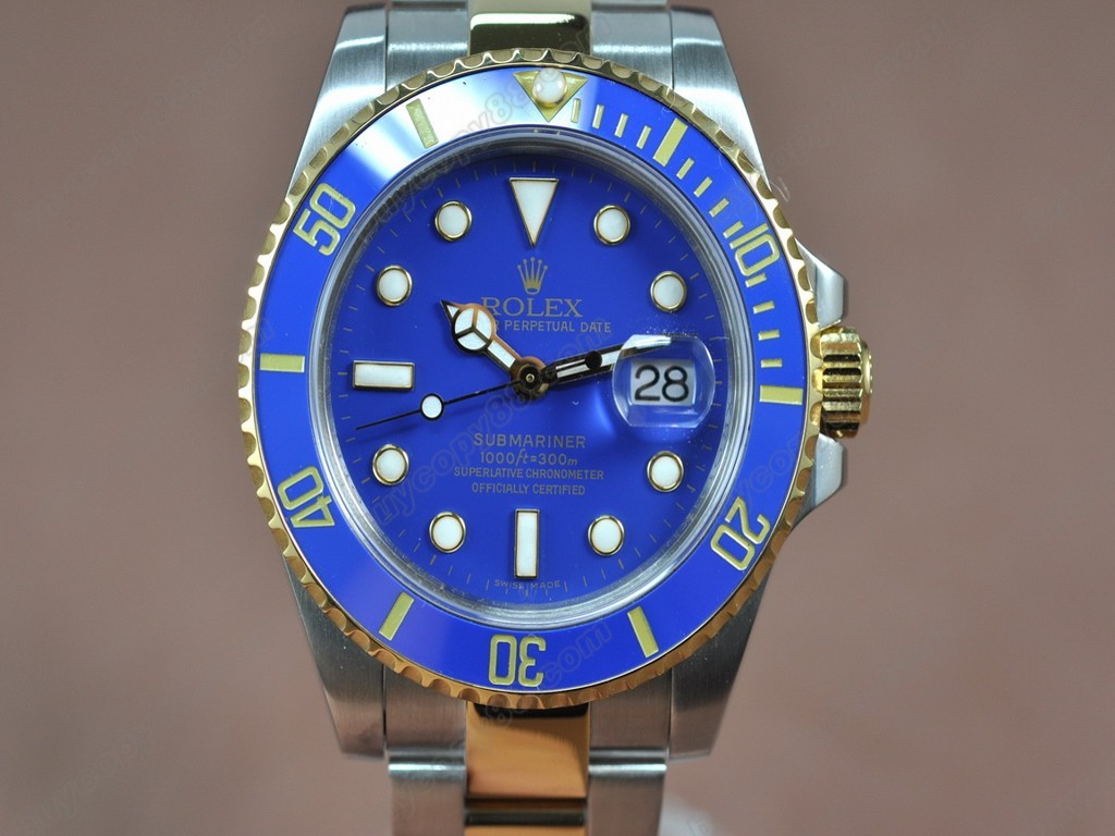 勞力士【男性用】Submariner TT Blue Dial Blue Ceramic Bezel A-2836-2自動機芯搭載