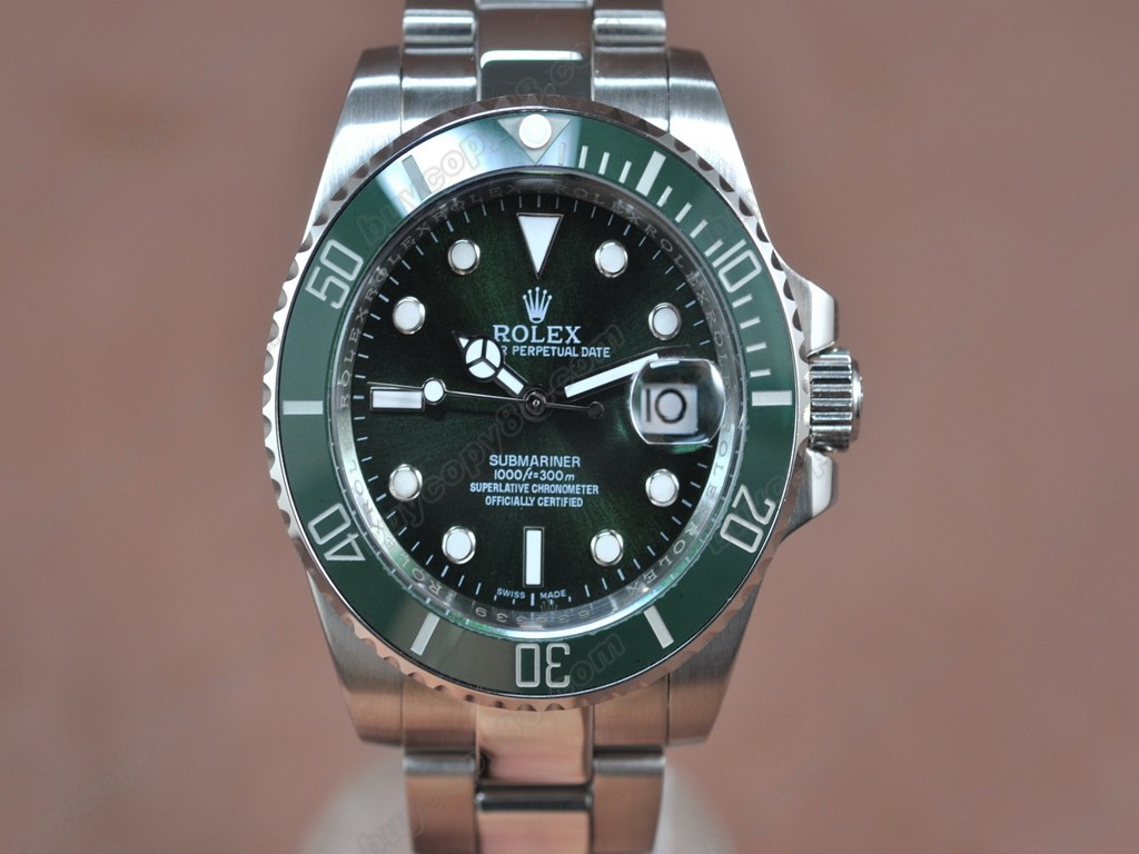 勞力士【男性用】Submariner SS Green Dial Green Ceramic Bezel A-2836-2自動機芯搭載