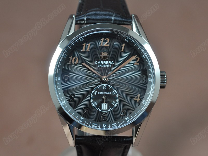 豪雅錶Tag Heuer Carrera Calibre 6 SS/LE Black Dial Asian自動機芯搭載