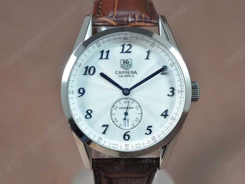 豪雅錶Tag Heuer Carrera Calibre 6 SS/LE White Dial Asian自動機芯搭載