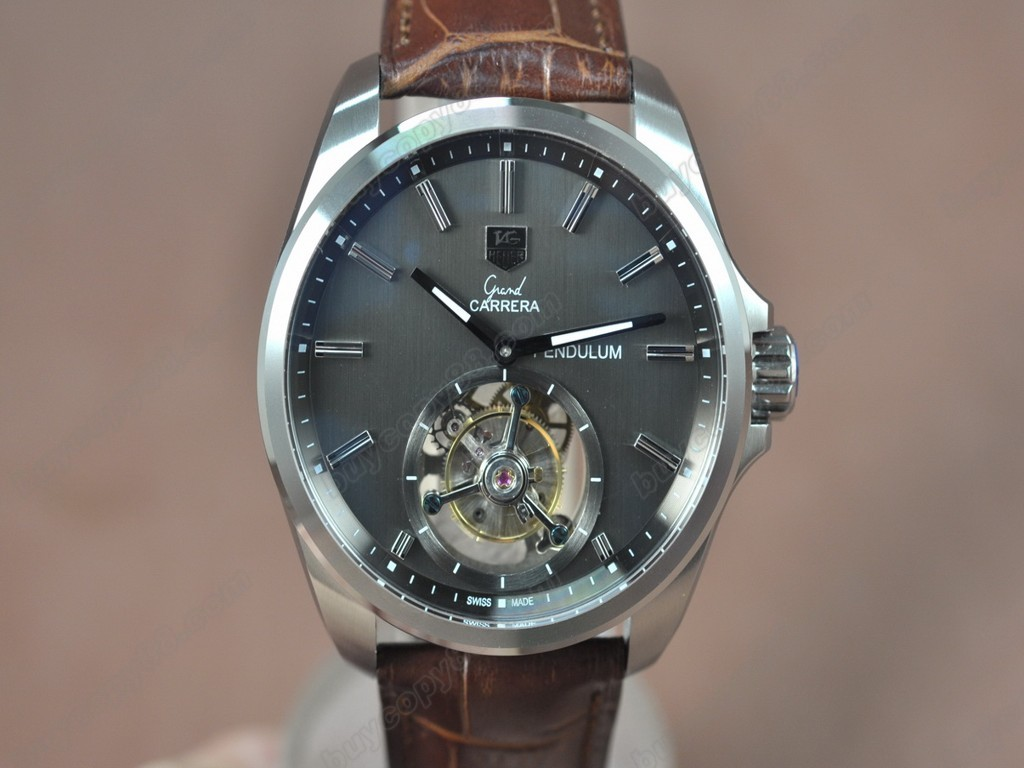 豪雅【男性用】 Carrera 43mm SS/LE Grey  Asian Flying Tourbillon 手上鏈搭載