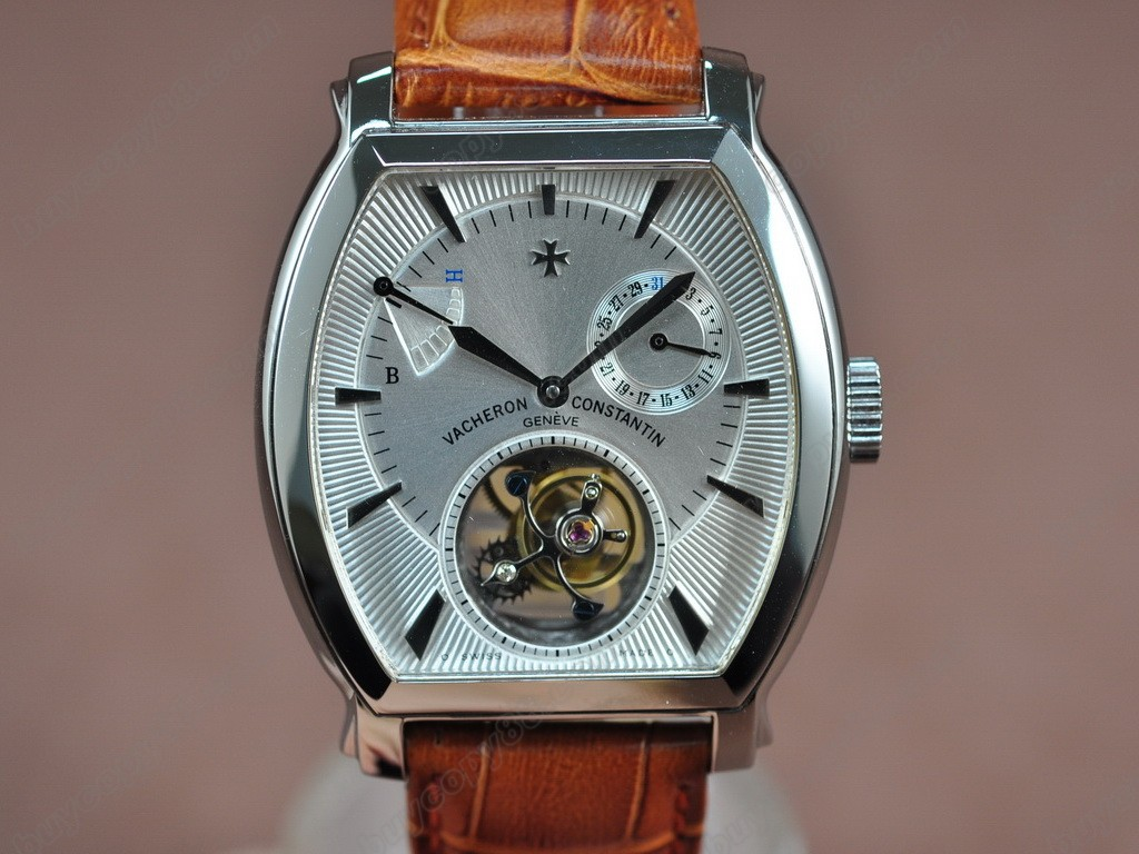江詩丹頓 【男性用】 Malte Tourbillon WG White Dial Real 陀飛輪搭載