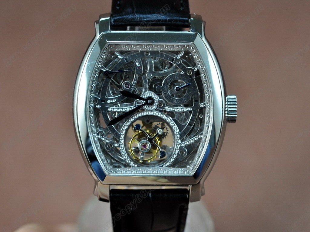 江詩丹頓 【男性用】Malte Tourbillon WG Skeleton Dial Real 陀飛輪搭載