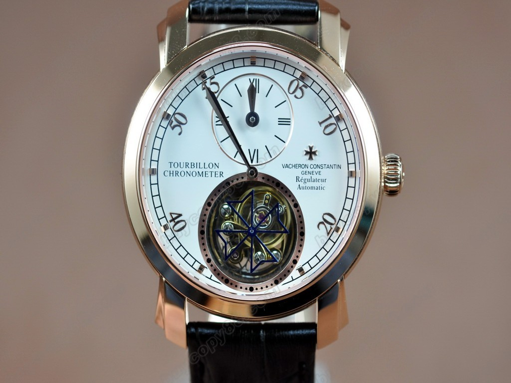 江詩丹頓 【男性用】 Malte Regulator Tourbillon SS/LE White Flying 陀飛輪搭載