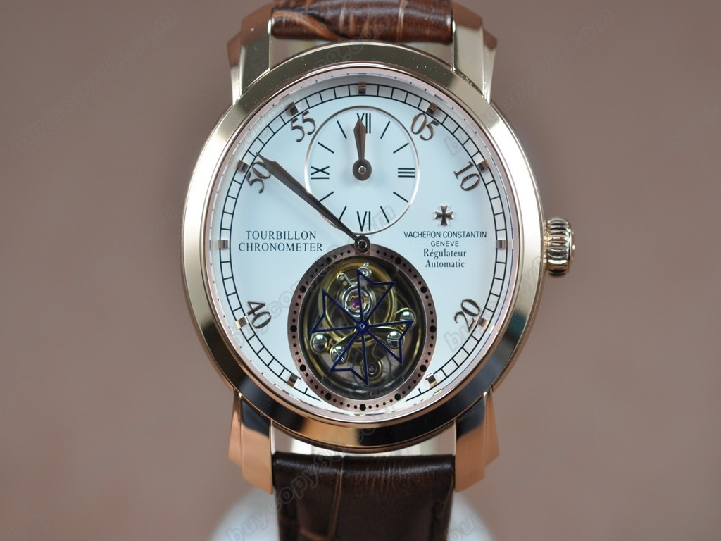 江詩丹頓 【男性用】Malte Regulator Tourbillon SS/LE White Flying 陀飛輪搭載