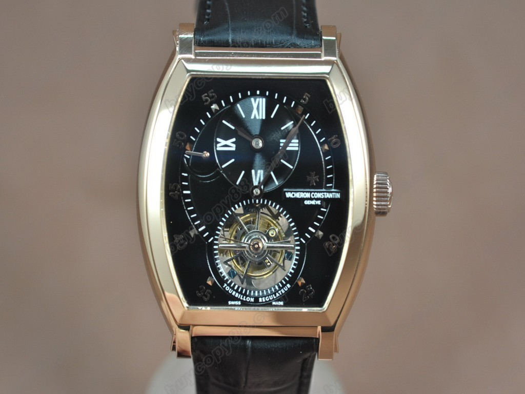 江詩丹頓 【男性用】 Malte Regulator Tourbillon RG/LE Blk Dial Flying 陀飛輪搭載