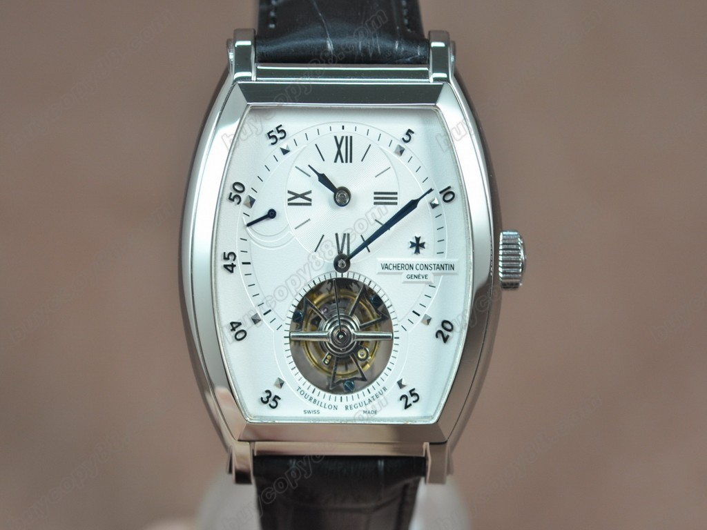江詩丹頓 【男性用】 Malte Regulator Tourbillon SS/LE Wht Dial Flying 陀飛輪搭載