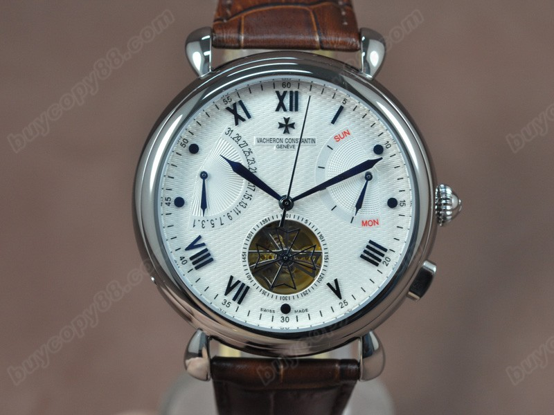江詩丹頓Vacheron Constantin Matle Calender Tourbillon SS/LE White Asian自動機芯搭載