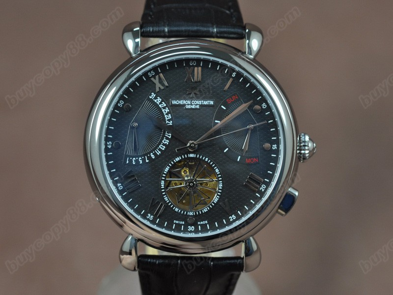 江詩丹頓Vacheron Constantin Matle Calender Tourbillon SS/LE Black Asian自動機芯搭載