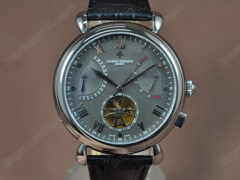 江詩丹頓Vacheron Constantin Matle Calender Tourbillon SS/LE Grey Asian自動機芯搭載