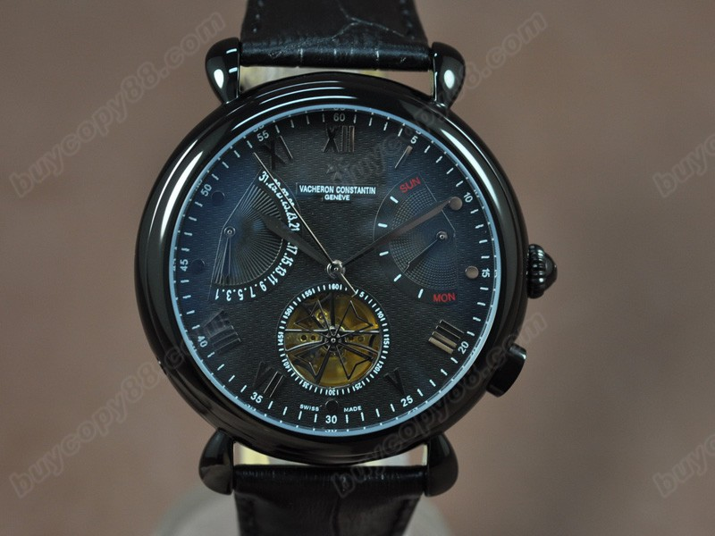 江詩丹頓Vacheron Constantin Matle Calender Tourbillon PVD/LE Black Asian自動機芯搭載