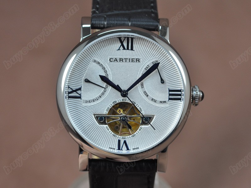卡地亞Cartier Calender Tourbillon SS/LE Black Asian自動機芯搭載