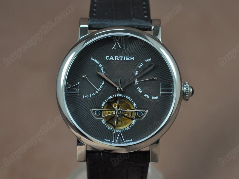 卡地亞Cartier Calender Tourbillon SS/LE Grey Asian自動機芯搭載