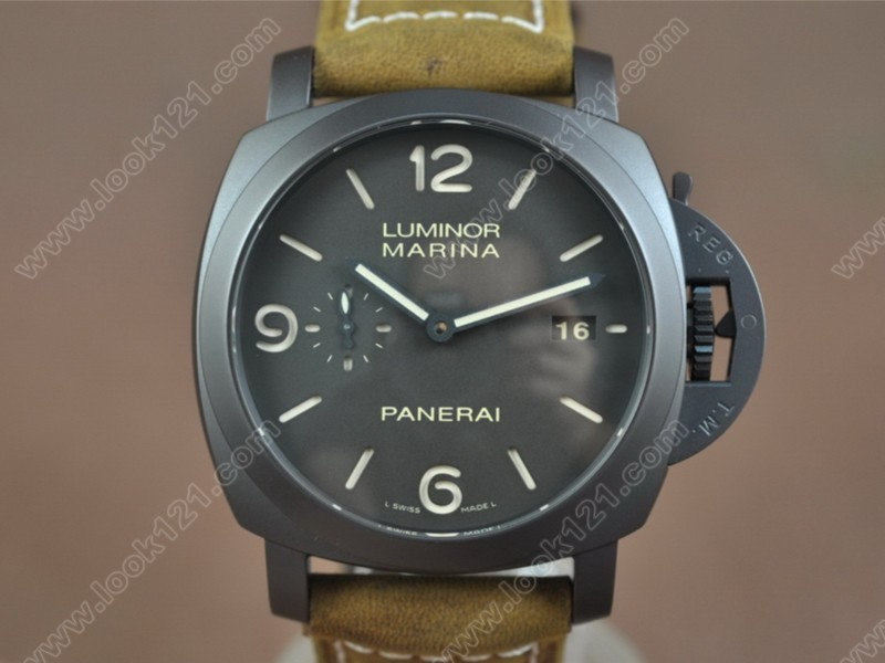沛納海 Panerai PAM386 M Composite Black Dial P.9000 Movement