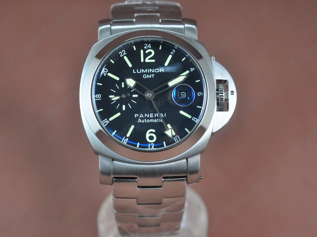 沛納海【男性用】 Luminor GMT SS/LE Black 44mm Asian自動機芯搭載