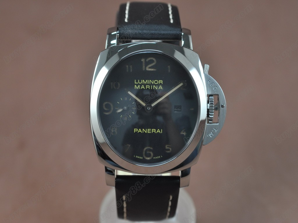 沛納海【男性用】 Luminor Marina 44mm SS/LE Black dial Asia21J 自動機芯搭載