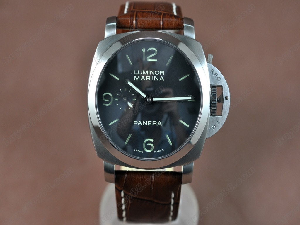 沛納海【男性用】 Luminor Marina 44mm SS/LE Black dialAsia21J 自動機芯搭載