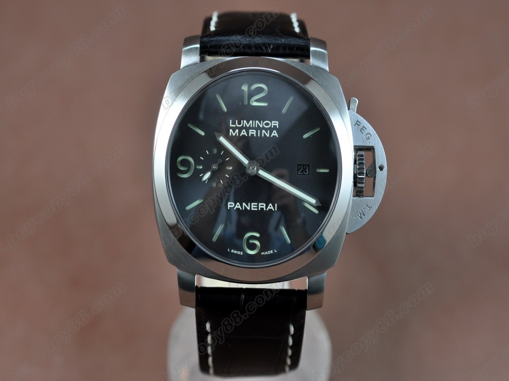 沛納海【男性用】Luminor Marina 44mm SS/LE Black dial Asia21J 自動機芯搭載